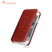 top quality genuine Leather Flip Cover Case for Apple iPhone 6 plus