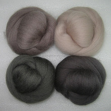 combed fine lamb cashmere colorful wool fibre