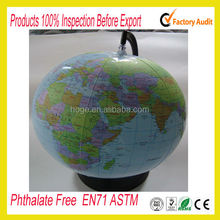 Spanish languages inflatable world map beach ball in stock