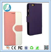 combo Color Wallet Card Holder Leather case for iphone 6 plus for girls wallet