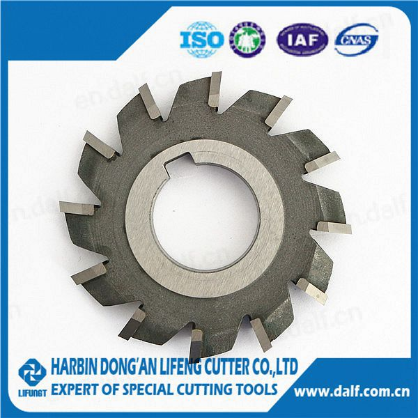Special made carbide diak-shaped finishing milling cutter