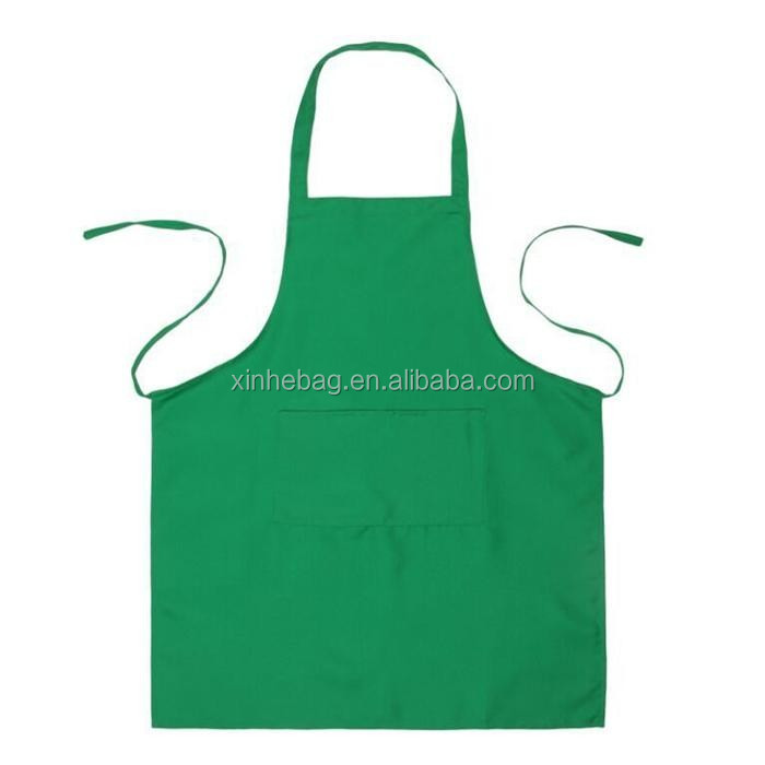 Durable promotional red cotton cooking apron
