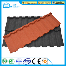 South Africa Colorful Stone Coated Metal Roof Shingle