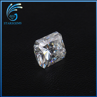 Excellent Rectangle Princess Cut Vvs Clarity Moissanite for Fashion Jewelry