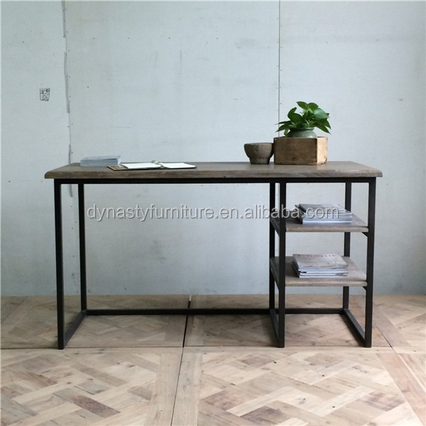wooden top living room industrial goods design metal legs writting desk