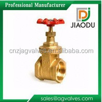 DN25 or DN32 C26000 brass female or male screw wedge gate valve for oil