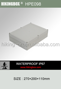 IP65 waterproof polycarbonate plastic abs boxes/pcb enclosure HPE098