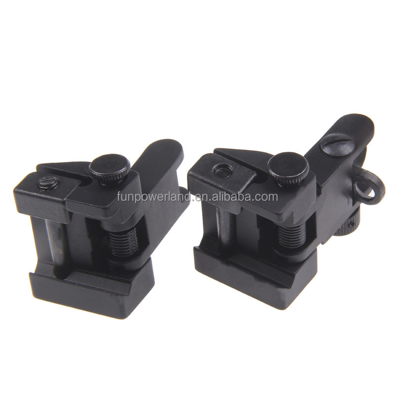 Funpowerland Tactical Flip up Front and Rear Back up Iron Sight