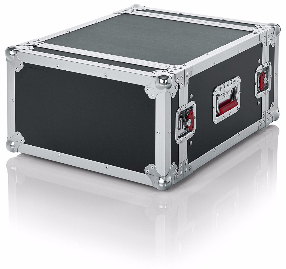 Portable Aluminum 6U Standard Audio Road Rack Flight Case