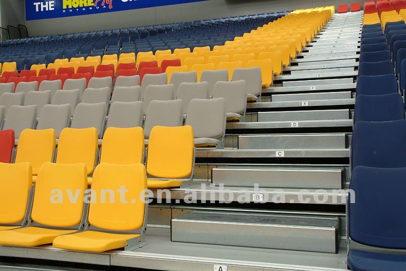 automatic electronic retractable Seating,indoor/arena telescopic seating system, tribune, bleachers for multi-purpose use