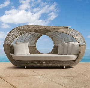 outdoor furniture rattan daybed with canopy