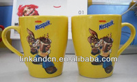 factory sales 11oz yellow nesquik promotion mugs