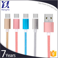 Hengye World Best Selling Products 5pin nylon type c 2a usb to usb cable extension