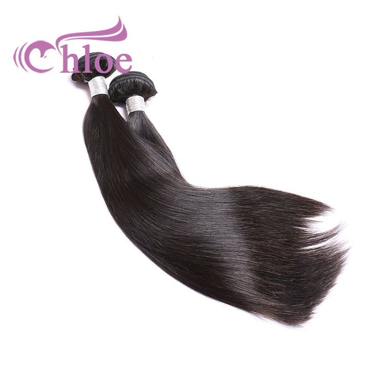 Guangzhou 10A Straight Human Hair 1 Piece Hair Weave Bundles 10-30 inch Natural Color Remy Hair