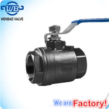 High Pressure 2PC Ball Valve 2000WOG/ 2000wog WCB Ball Valve DN40