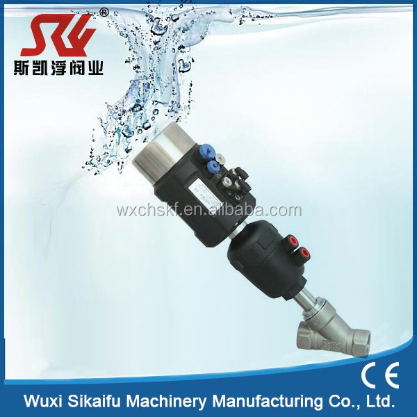 Pneumatic Angle Seat Valve Threaded Screw Joint