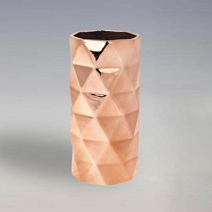 gold plated tall wholesale ceramic vase