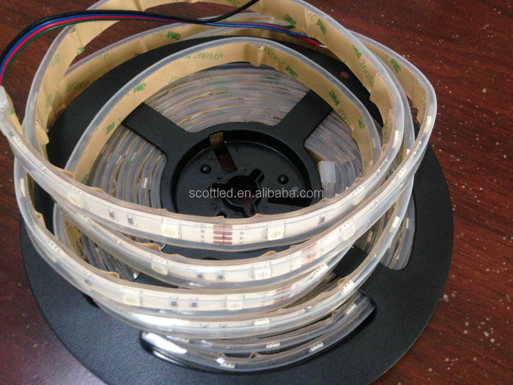 Dumb LED RGB Strip 30 LEDs per Meter Waterproof (5 meter Roll) - 12v