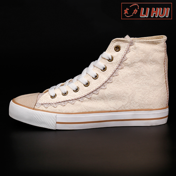 wholesale rubber canvas campus ankle length women evening shoes