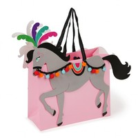 Circus horses birthday gift bag with handles gift packaging bag with custom logo manufacturer