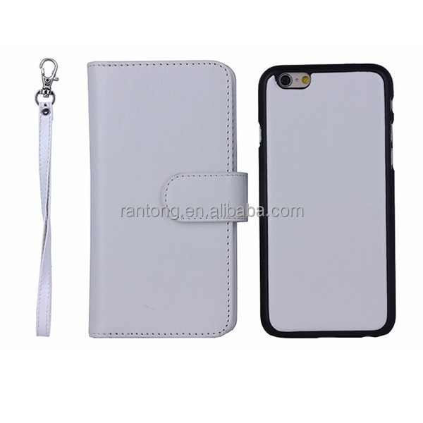 3-pieces new products 2015 exclusive removal leather cell phone filp case
