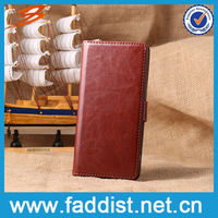 2014 new product leather flip case for Sony Xperia Z2 L50W