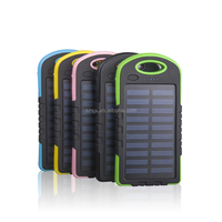 Solar Power Bank Dual USB Powerbank 4000mAh External Battery Portable Charger Bateria Externa Pack for Mobile phone