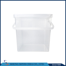 utility stackable hard clear tool storage plastic box