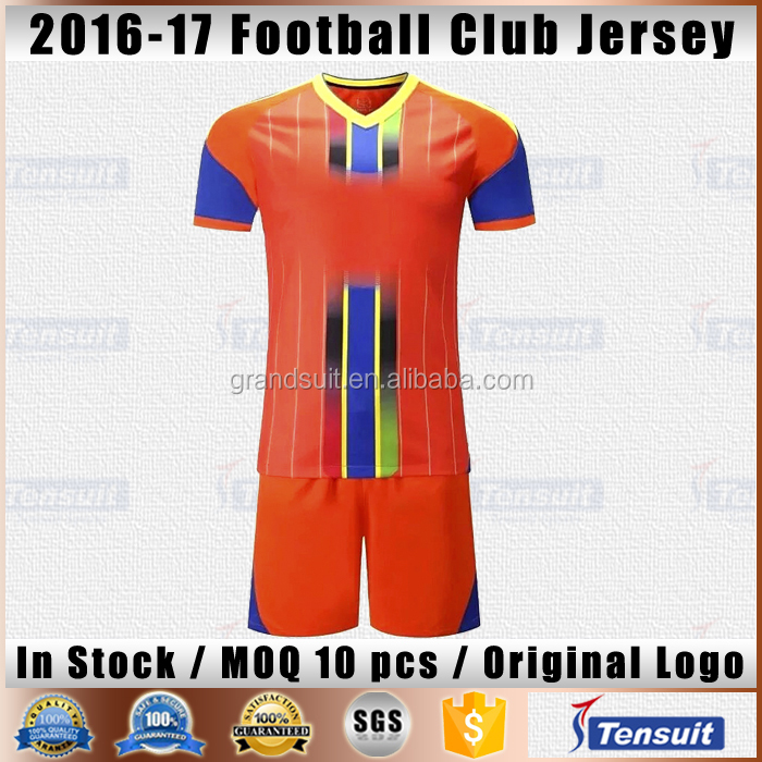 China imported soccer jersey with sublimated material customize blank football shirt dry fit unique design soccer wear for club