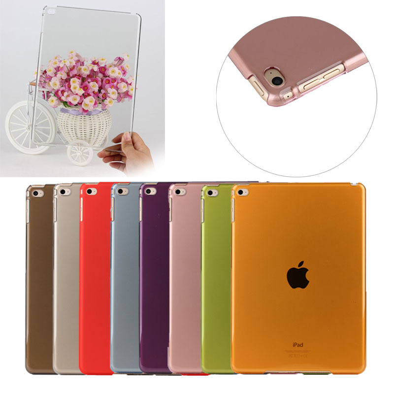 Colorful transparent PC Hard tablet cover case for ipad air 2 series tablet