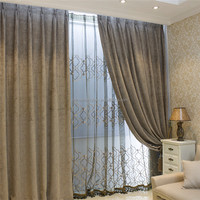 Electric rail panel 100% blackout curtain with jacquard lining