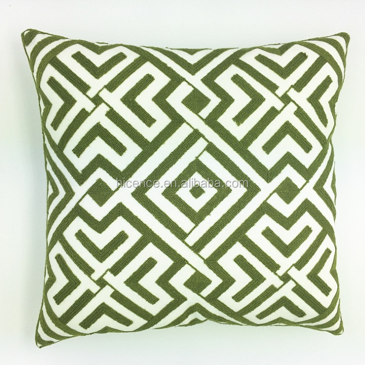 New Geometric Style Knitting Embroidery Pillow