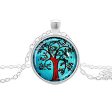 Fast sell through explosion factory direct time Gem Love tree Necklace Life Tree Silver Pendant