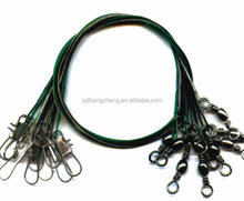 quality fishing barrel swivel with interlock snap and wire leader