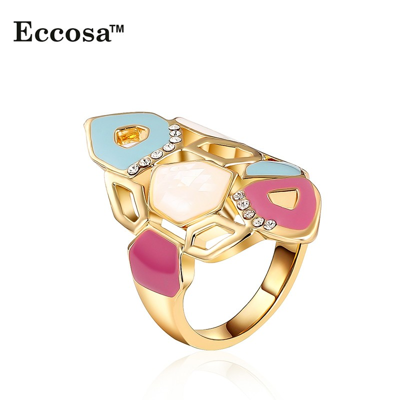 Elegant  Gold Finger Ring Without StoneGold Rings Without Stones WomenGold