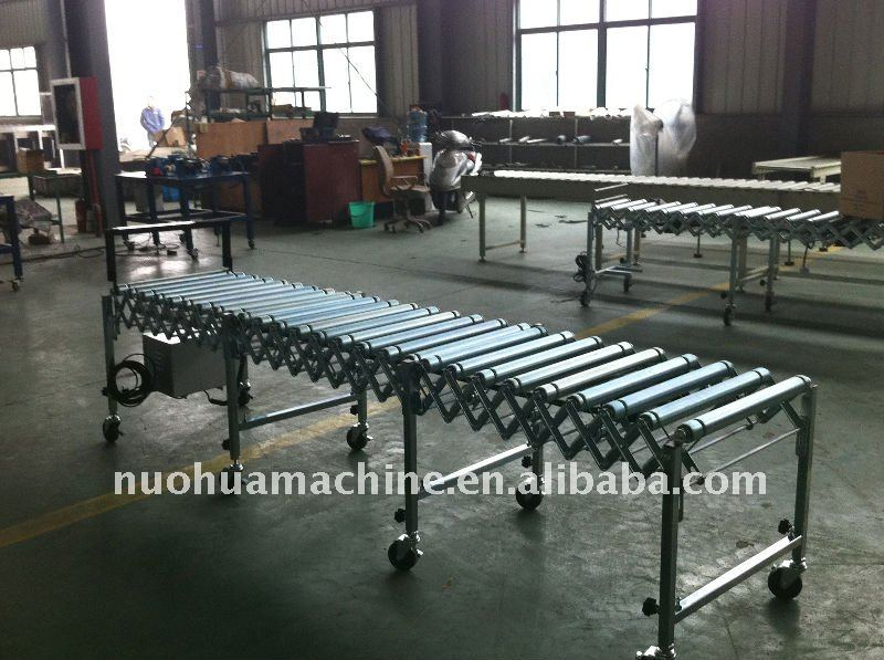 18'' wide motorized powered flexible conveyor rollers