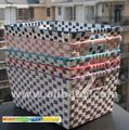 Freetomall Home & Garden Multi color checkered plastic tape basket toys storage