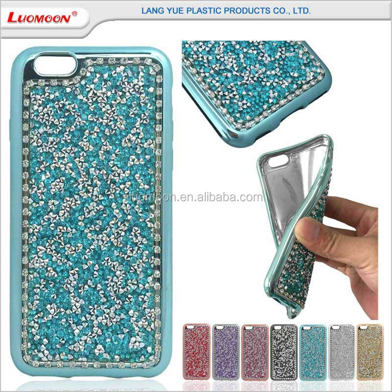 full Autrian diamond high light plating tpu back case for samsung galaxy note S A E J 3 4 5 6 7 8 9 edge plus