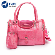 Pet cat small dog travel luxury pu leather outdoor foldable portable carry shopping pet bag