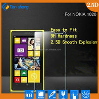 0.3mm Tempered Glass for Nokia Lumia 520 2.5D Arc Edge 9H Hard Ultra Thin Screen Protector with clean tools