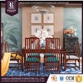 Made in China chinese style solid wood furniture sets , modern 1+6 dining room table and chairs