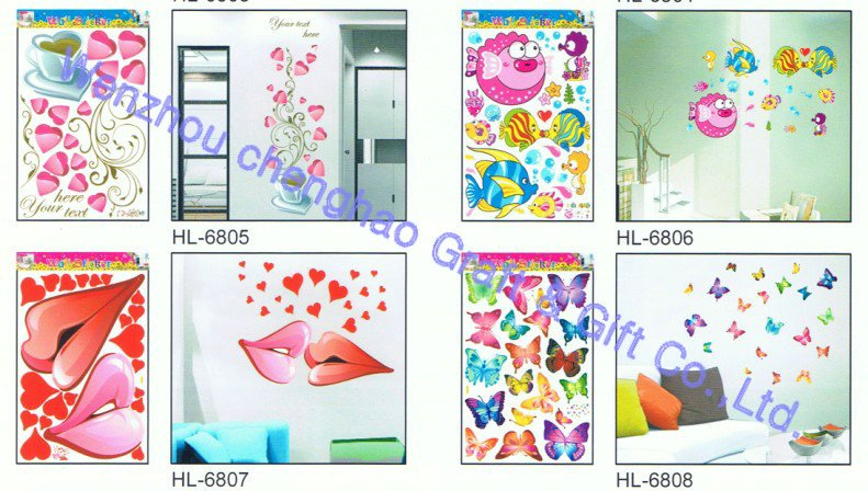 red flowers self-adhesive decorative window sticker