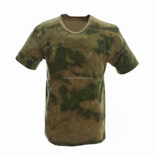 100% cotton collarless o-neck short sleeves custom men A-TACS FG camouflage military t shirt