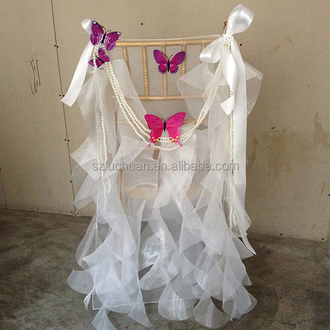 Wholesale Organza Chair Sash Wedding Chair Covers and Sashes