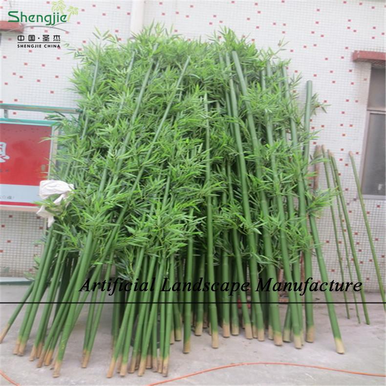Sjnb17 pas cher en plastique bambou bambou artificielle for Bambou plastique
