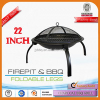 Newest design 5-6 person portable rusty fire pit