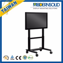 Height adjustable LCD TV Trolley Ergonomic designs stand cart