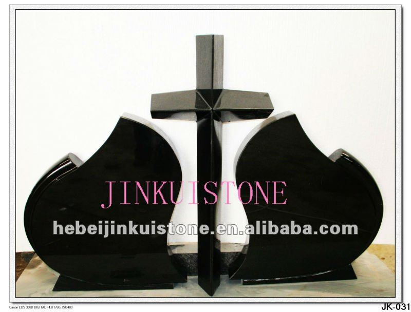 absolute black granite cross headstones foer sale