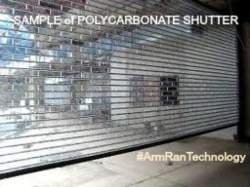 Manual and Automatic Polycarbonate Roll Up Shutter