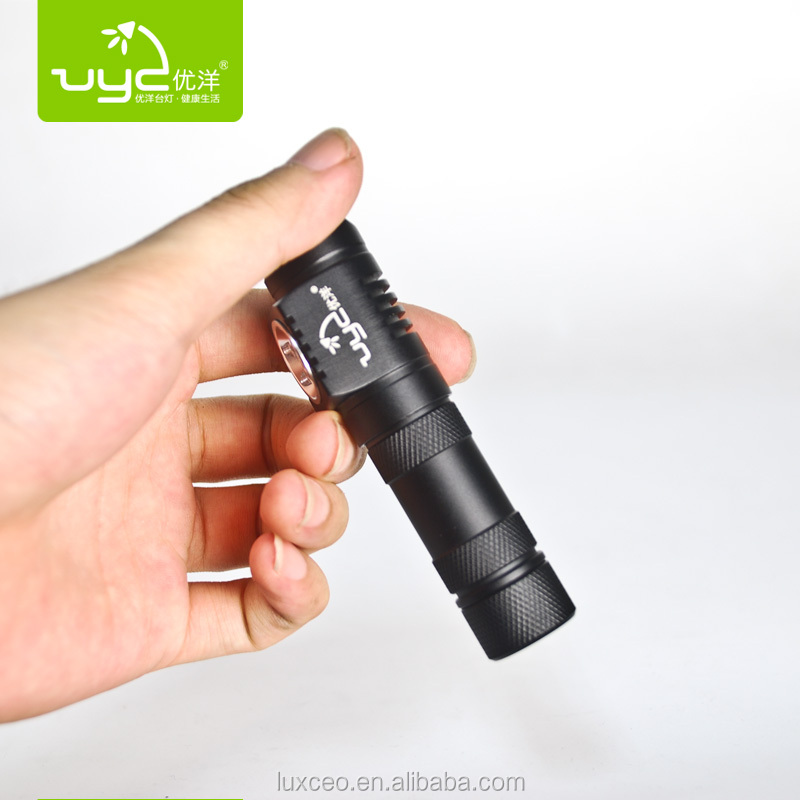 UY H01 waterproof battery operated small battery led torch light